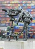Kamerzysta statua w Hilversum Holandia Obrazy Royalty Free
