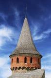 Kamianets-Podilskyi城堡的塔楼 免版税图库摄影
