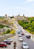 Kamianets-Podilskyi城堡,乌克兰 免版税库存图片