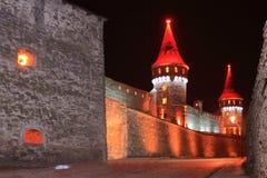 Kamianets-Podilskyi城堡(乌克兰) 免版税库存照片