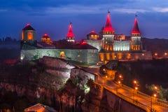Kamianets-Podilskyi城堡 库存图片