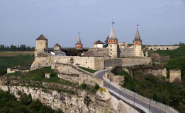 Замок Kamianets-Podilskyi, Украина Стоковое Изображение