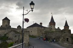 Kamianets-Podilskyi Castle στην Ουκρανία Στοκ φωτογραφία με δικαίωμα ελεύθερης χρήσης