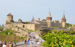 Kamianets-Podilskyi castle in the morning, Ukraine Stock Images