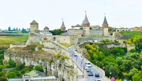 Kamianets-Podilskyi castle, Ukraine stock image