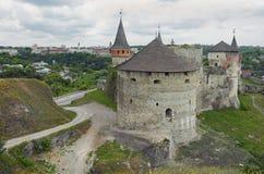 Kamianets-Podilskyi Castle in Ukraine Stock Image