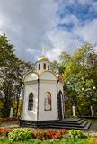 Kamianets-Podilskyi, de Oekraïne - Oktober 20, 2016: Weinig kapel dichtbij Alexander Nevsky Cathedral, kamenetz-Podolsk Royalty-vrije Stock Foto's