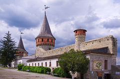 Kamianets-podilskyi fortrees. Ukrain.The courtyard of an old fortress Royalty Free Stock Photo