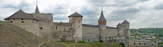 Kamianets-Podilskyi slott, Ukraina Arkivbild