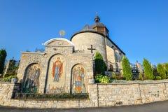 Kamianets-Podilskyi, Ucrania Iglesia de la trinidad santa vieja, Kamianets-Podilskyi, Ucrania Imagenes de archivo