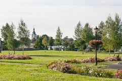 "KamieÅ ""ÅšlÄ…滑雪总斯坦-一个村庄在Gmina戈戈林管理区域  免版税图库摄影"