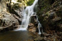 Kamieńczyk Waterfalls. In Sudety, region of Poland Stock Photography