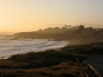 kamień księżycowy cambria na plaży Obrazy Royalty Free