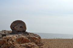Kamień, morze i plaża, obraz royalty free