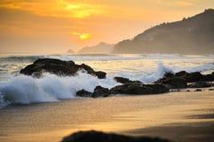 Kamień na plaży Fotografia Royalty Free