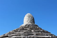 Kamień płytek struktury wierzchołek Kazun Fotografia Stock