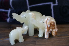 Kamień postacie słonia handmade szczęście! Obrazy Stock