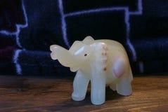 Kamień postacie słonia handmade szczęście! Fotografia Stock