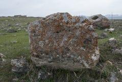 Kamień ruiny w Kościelnym świętym Zoravar Fotografia Royalty Free