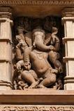 Kamień rzeźbił rzeźbę bóg Ganesha na Lakshmana świątyni Khajuraho Obrazy Royalty Free