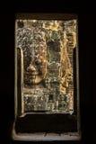 Kamień twarze na górują antyczna Bayon świątynia zdjęcie stock