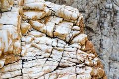 Kamień z czerni pęknięcia tłem Obraz Royalty Free