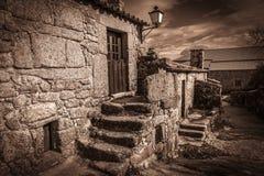 Kamień zrobił wieśniaka domowi w Sortelha wiosce Fotografia Stock