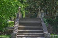 Kamień, antykwarski schody Zdjęcie Royalty Free