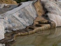 Kamień i woda Hierve el agua Zdjęcia Royalty Free