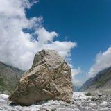 Kamień na Bezengi lodowu Fotografia Royalty Free