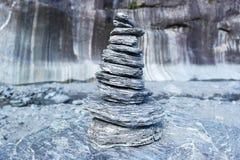 Kamień na dennym brzeg Obrazy Royalty Free