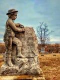 Kamień przy lokalnym cmentarzem Zdjęcia Stock