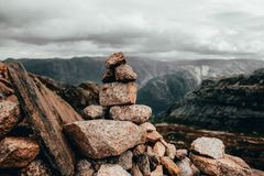 Kamień w Norwegia obrazy royalty free