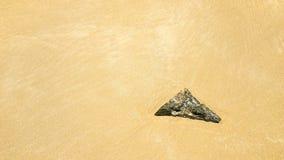 Kamień w piasku Fotografia Royalty Free