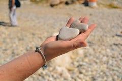 Kamień w postaci serca Fotografia Royalty Free
