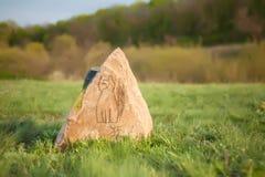 Kamień z wizerunkiem kot Obrazy Stock