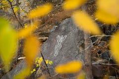 Kamień z wzorem Obrazy Stock