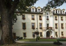 KAMIEN SLASKI, POLAND - August 28, 2018: The palace in Kamien Slaski. The shrine of St. Jack. Religious center near Opole. KAMIEN SLASKI, POLAND - August 28 royalty free stock images