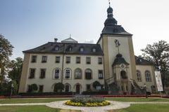KAMIEN SLASKI, POLAND - August 28, 2018: The palace in Kamien Slaski. The shrine of St. Jack. Religious center near Opole. KAMIEN SLASKI, POLAND - August 28 royalty free stock photo