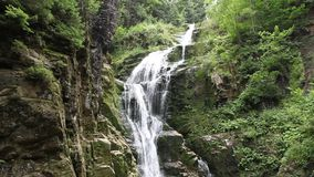 Kamienczyk waterfall in Poland stock video