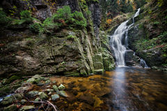 Kamienczyk Waterfall in Poland Stock Image