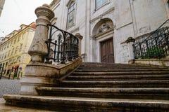 Kamieni kroki drzwi stary dom Obraz Royalty Free
