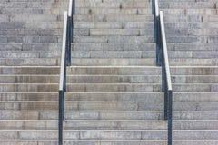 Kamieni kroki z poręczem Zdjęcie Stock