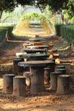 Kamieni krzesła Obrazy Royalty Free