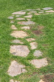 Kamienia i trawy przejście obrazy stock
