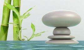 Kamienia zrównoważony abstrakt zdjęcie royalty free
