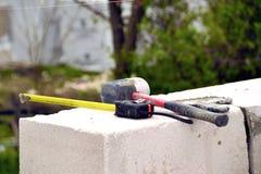 Kamieniarstwo ściany wietrzący beton Fotografia Royalty Free