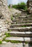 Kamieniarstwo schody i ściana obraz royalty free