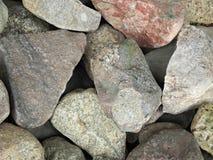 Kamienie dla tekstury Zdjęcia Royalty Free