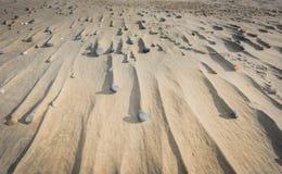 Kamienie i dryfy w piasku Zdjęcie Stock